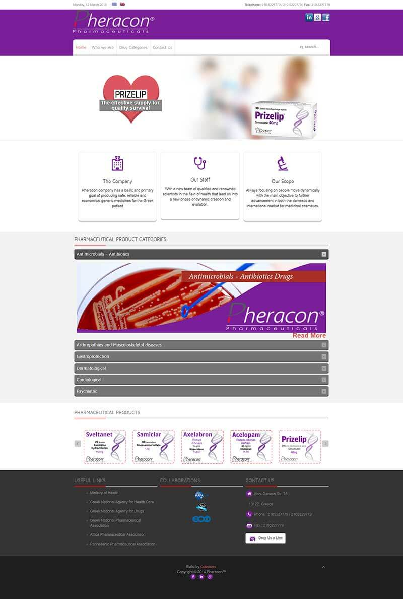 Pheracon S.A. | Portfolio Website